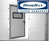 Врезка калитки в секционные ворота Doorhan
